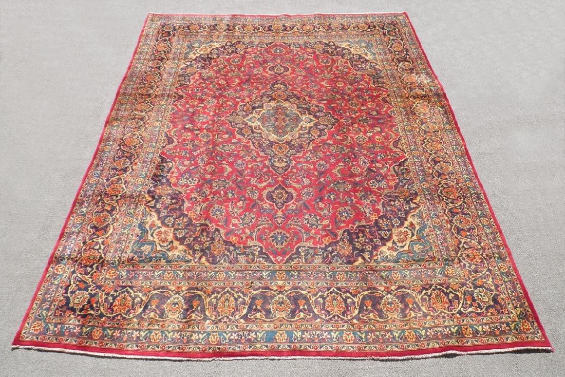 Hand Woven Semi Antique Persian Mashhad 12.5x9.5
