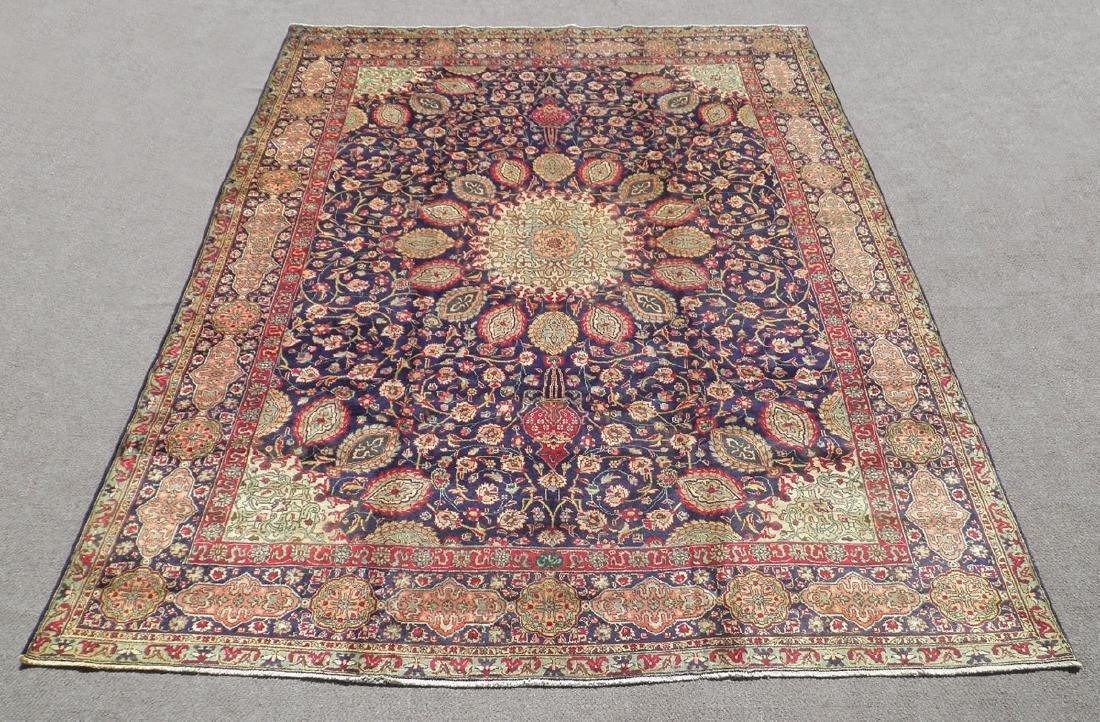 Hand Woven Semi Antique Persian Tabriz 13.1x10