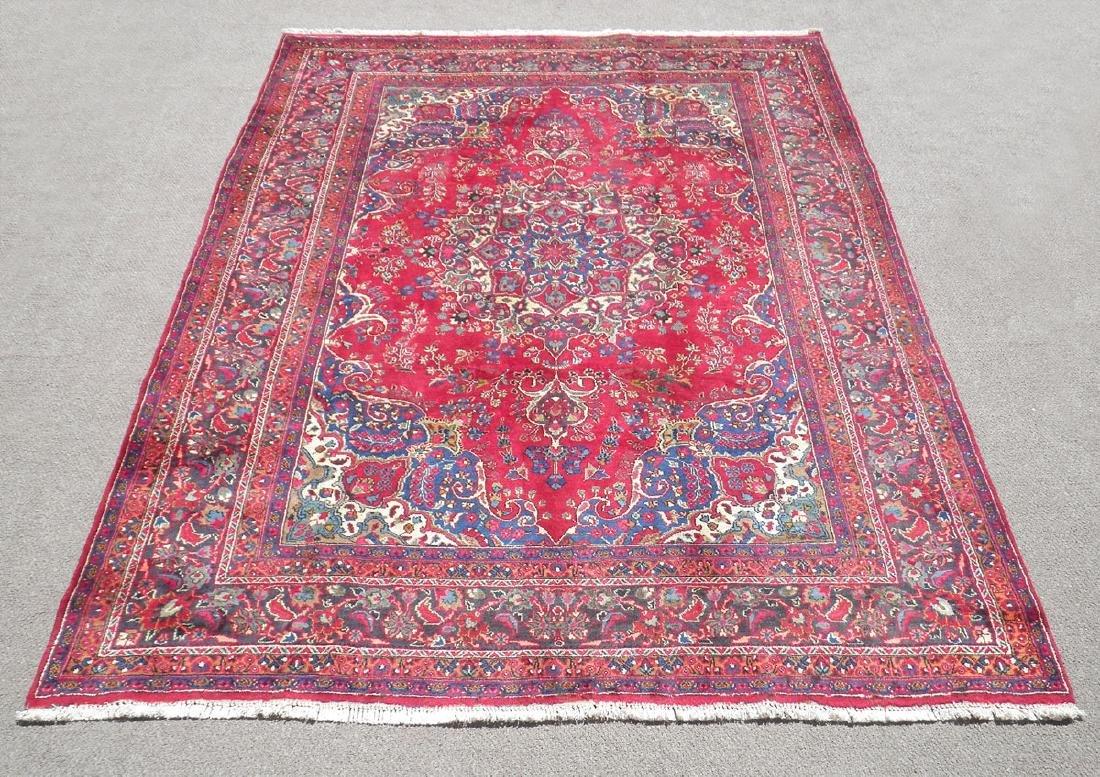 Hand Woven Semi Antique Persian Tabriz 12.7x9.6