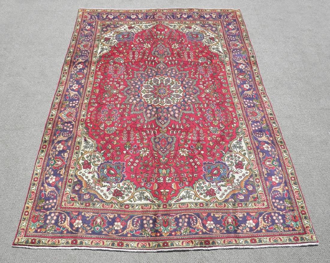 Hand Woven Semi Antique Persian Tabriz 10.2x6.9