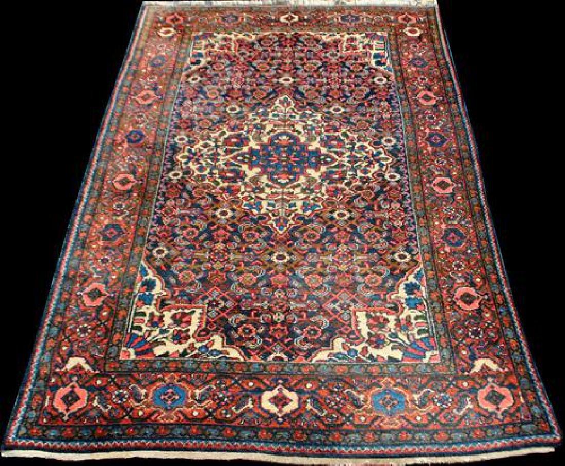 Semi Antique Persian Malayer Handmade Rug