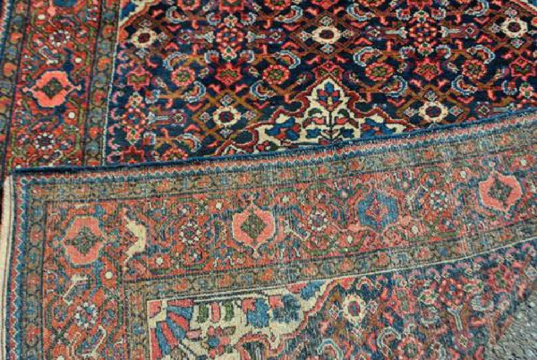 Semi Antique Persian Malayer Handmade Rug - 4
