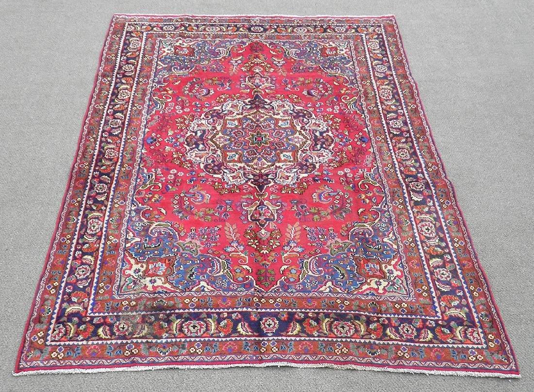 Detailed Semi Antique Persian Tabriz 10.2x7.7
