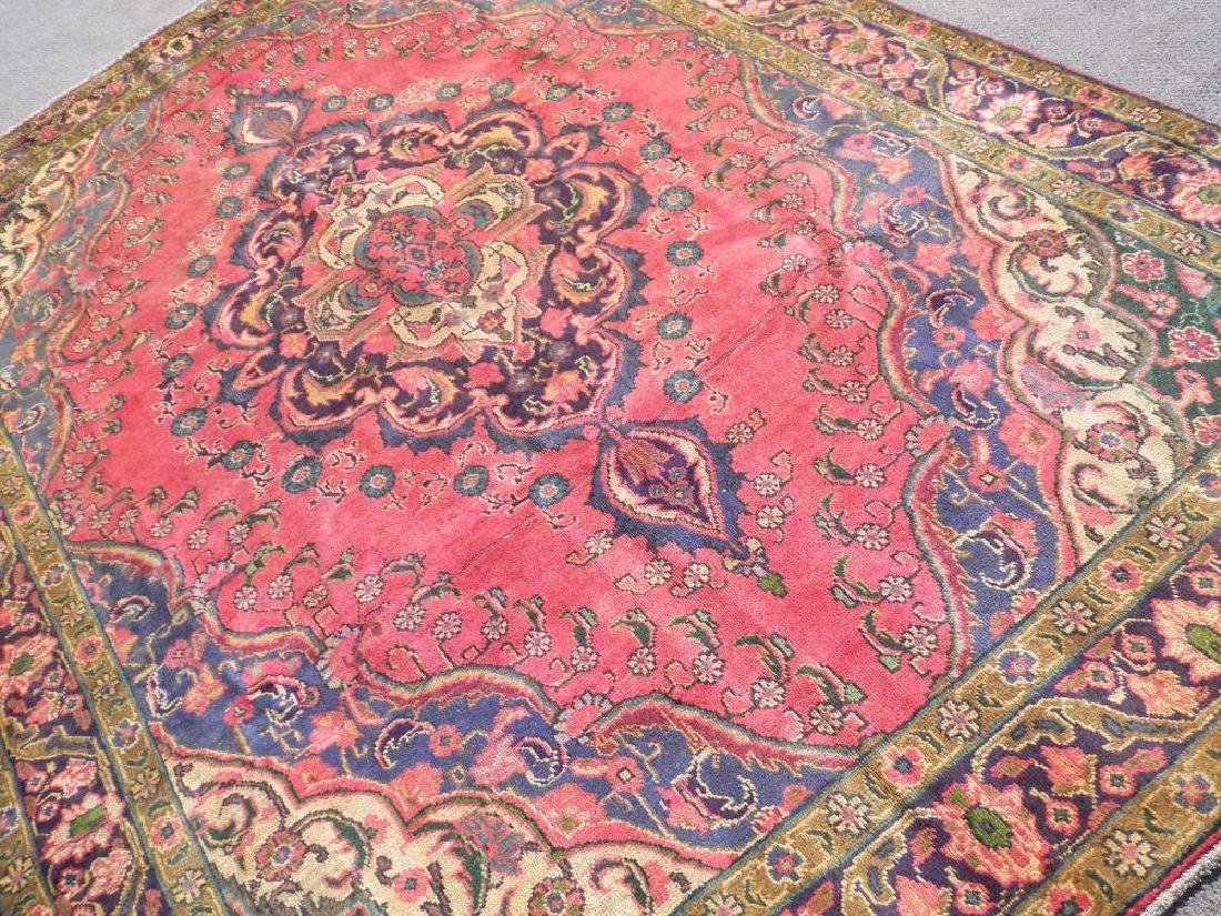 Gorgeously Contrasted Semi Antique Persian Tabriz - 2