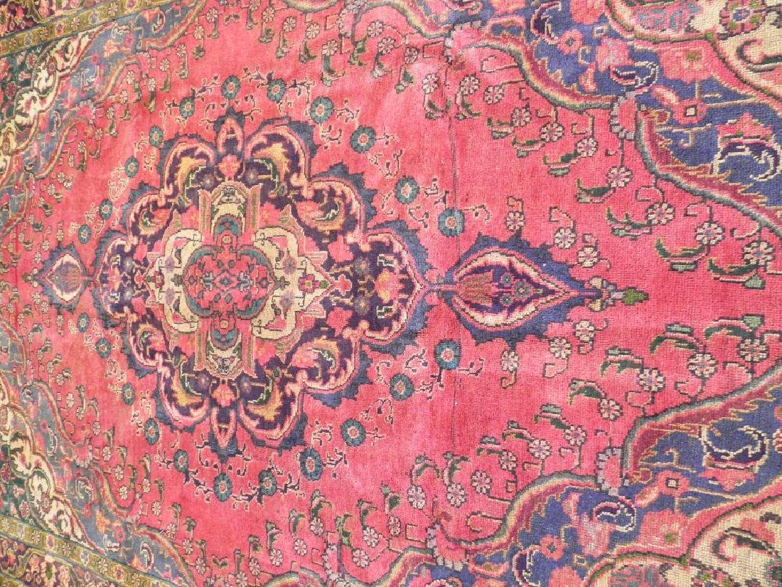 Gorgeously Contrasted Semi Antique Persian Tabriz - 3