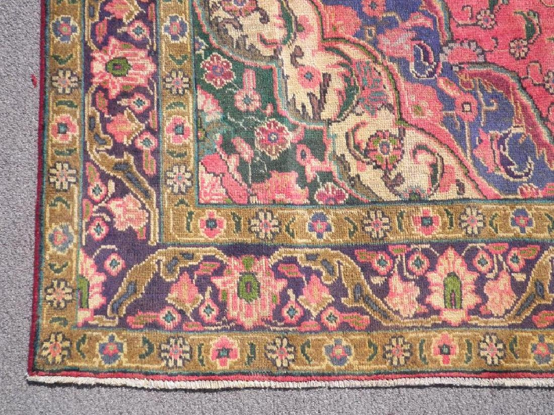 Gorgeously Contrasted Semi Antique Persian Tabriz - 5