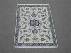 Handmade WoolSilk Persian Nain 45x210