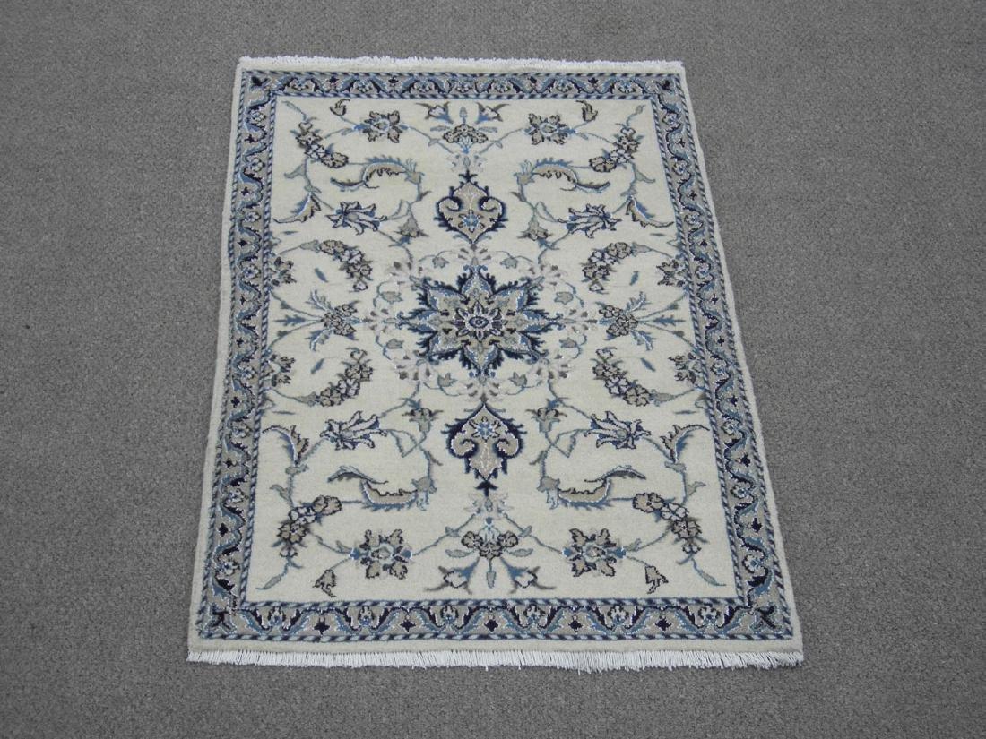 Handmade Wool/Silk Persian Nain 4.5x2.10