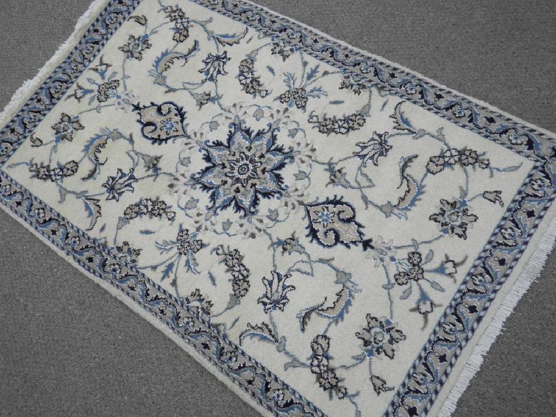 Handmade Wool/Silk Persian Nain 4.5x2.10 - 2