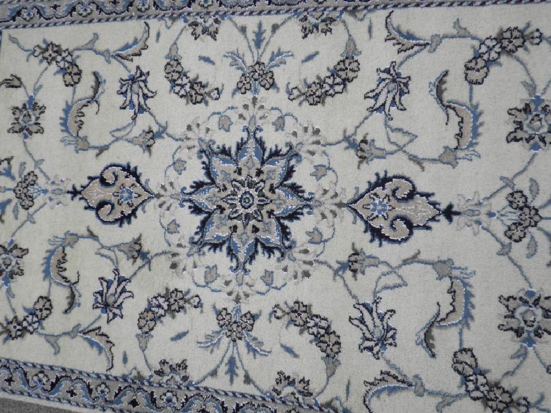 Handmade Wool/Silk Persian Nain 4.5x2.10 - 3