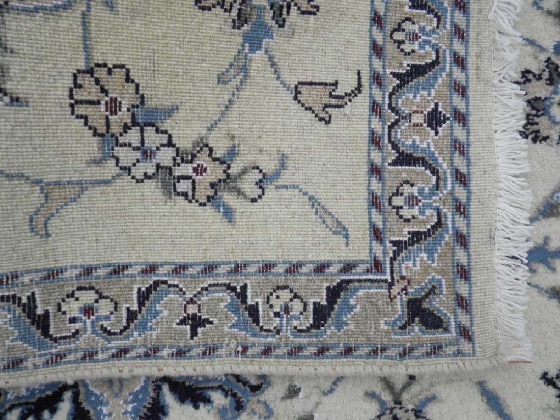 Handmade Wool/Silk Persian Nain 4.5x2.10 - 5
