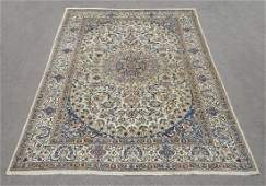 Gorgeous Semi Antique WoolSilk Persian Nain 114x711