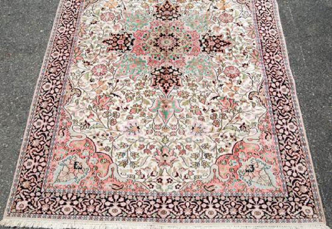 Handmade Silk Highlights Kashan 9.3x5.1 - 3