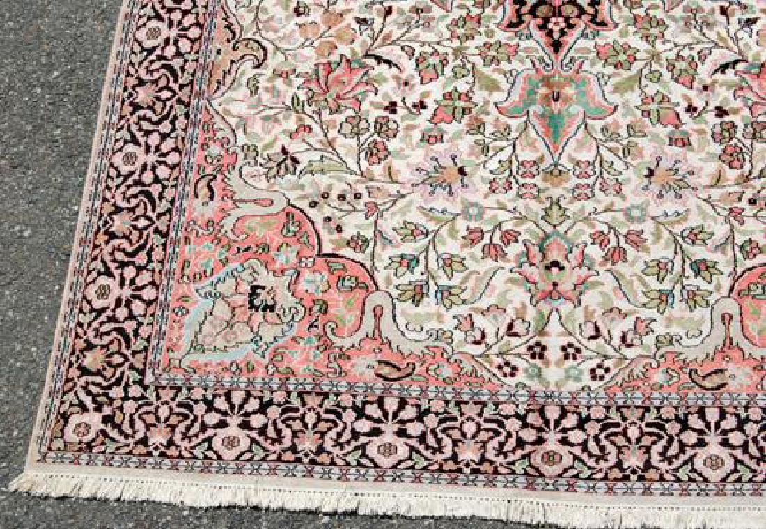 Handmade Silk Highlights Kashan 9.3x5.1 - 4