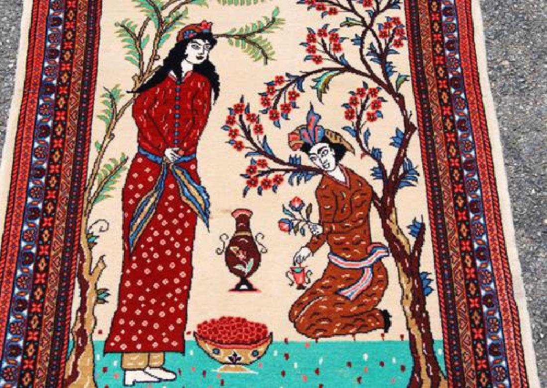 Simply Gorgeous Hand Woven Persian Tabriz Pictorial - 2