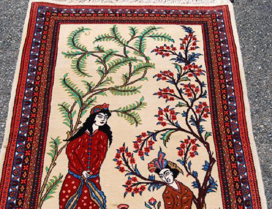 Simply Gorgeous Hand Woven Persian Tabriz Pictorial - 3
