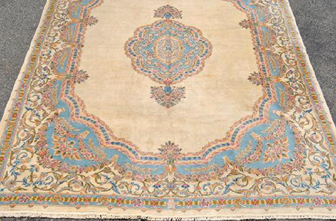 Hard to Find Semi Antique Hand Woven Kerman Rug - 3