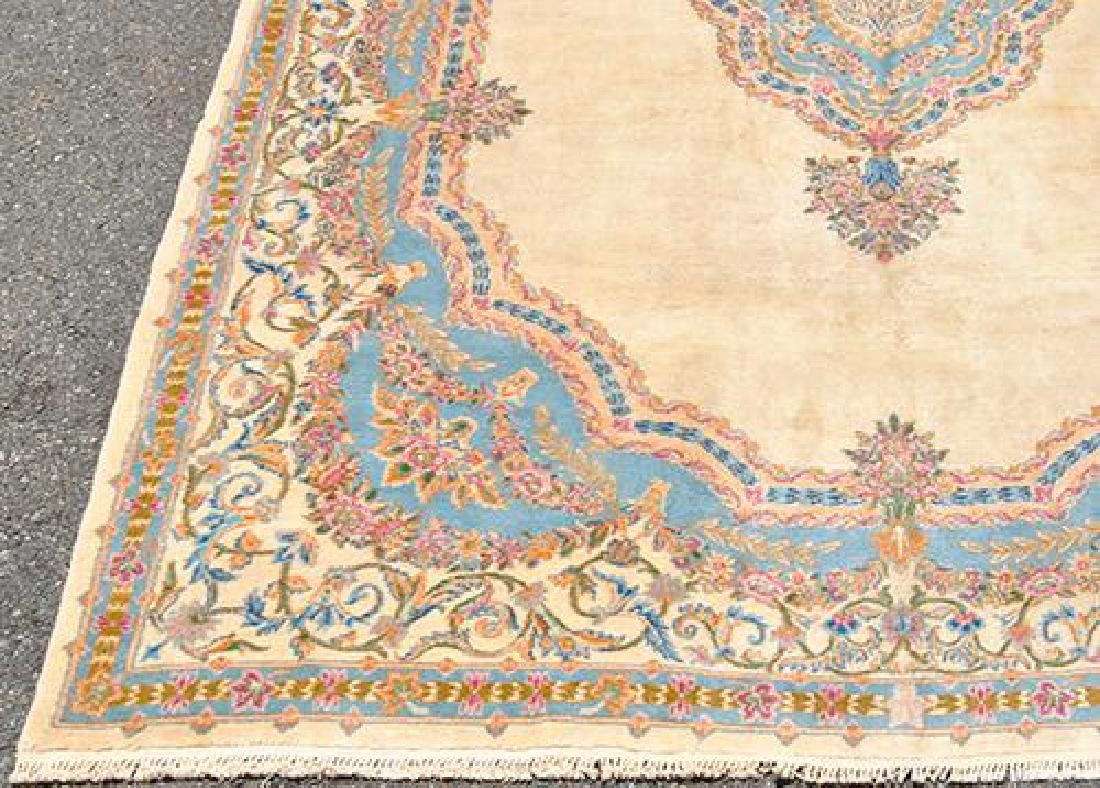 Hard to Find Semi Antique Hand Woven Kerman Rug - 4