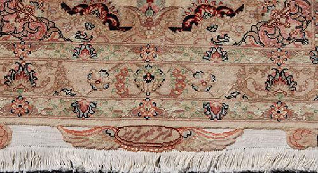 Stunning Persian Handmade Tabriz Rug w/ Silk Highlight - 2