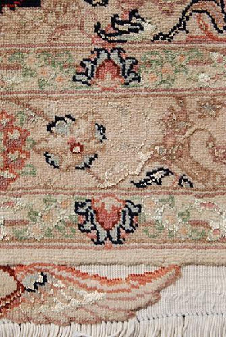 Stunning Persian Handmade Tabriz Rug w/ Silk Highlight - 6