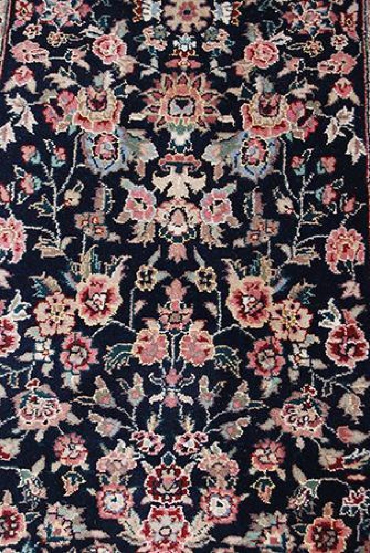 Eye-catching Kashan Design Runner W/Silk Highlights - 3