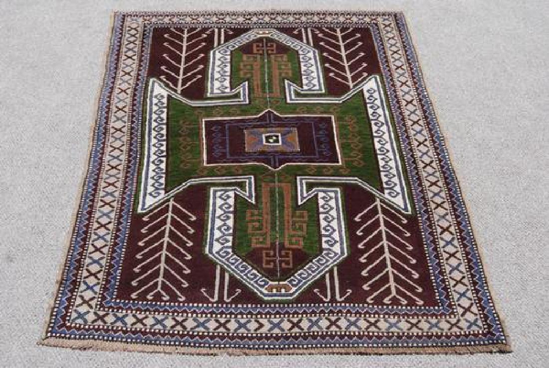 Handwoven Semi Antique Turkish 4.10x7.3 - 2