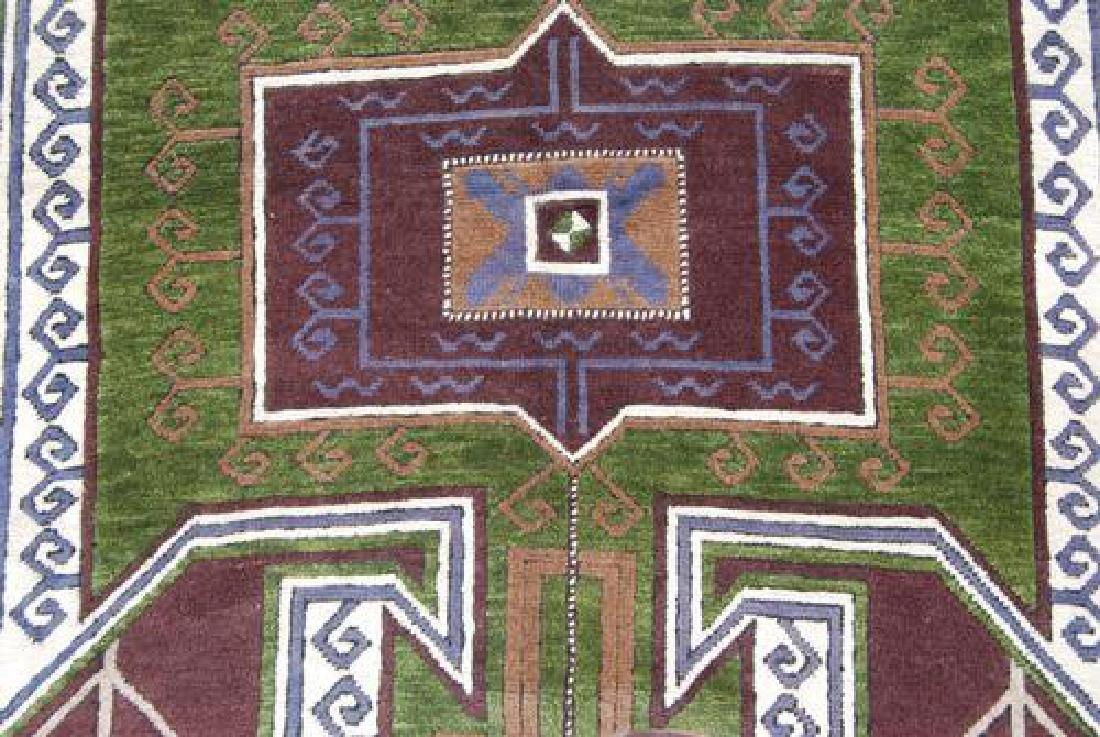 Handwoven Semi Antique Turkish 4.10x7.3 - 4