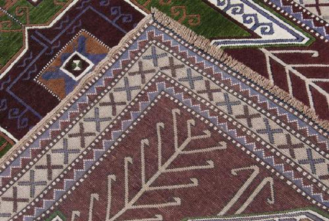 Handwoven Semi Antique Turkish 4.10x7.3 - 5