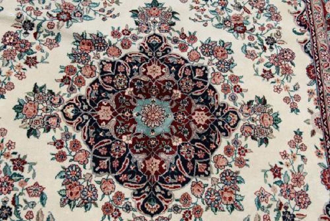 Gorgeous Wool and Silk Tabriz Design Rug - 2