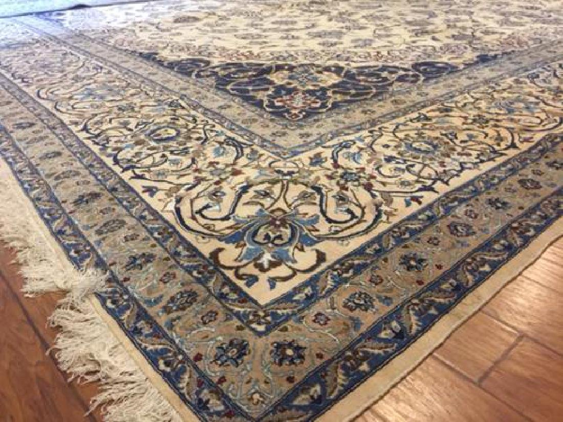 Auction Highlight: Palace Size Pure Silk Persian Nain - 3