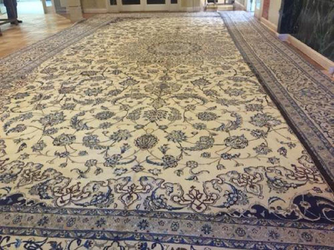 Auction Highlight: Palace Size Pure Silk Persian Nain - 6