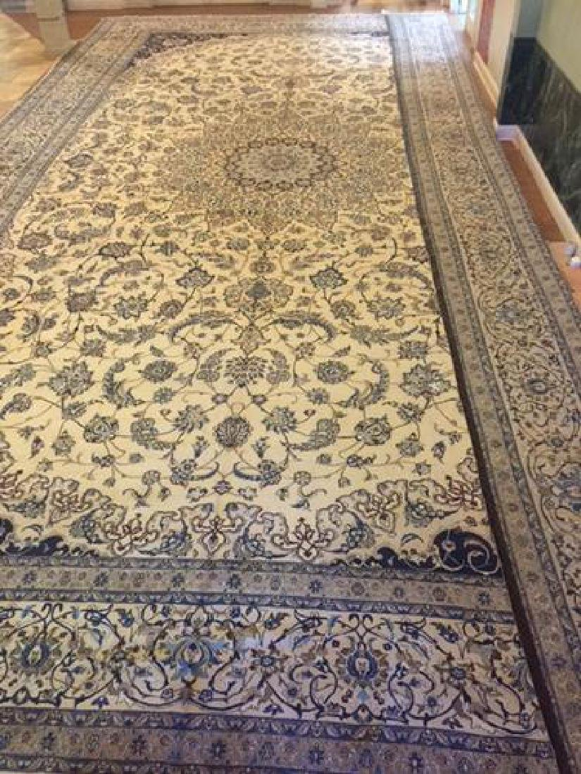 Auction Highlight: Palace Size Pure Silk Persian Nain - 7