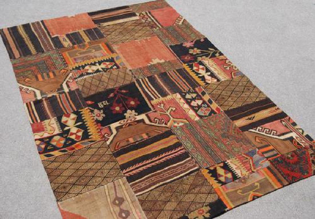 ABSOLUTELY SPECTACULAR HANDMADE TURKISH PATCHWORK KILIM - 2