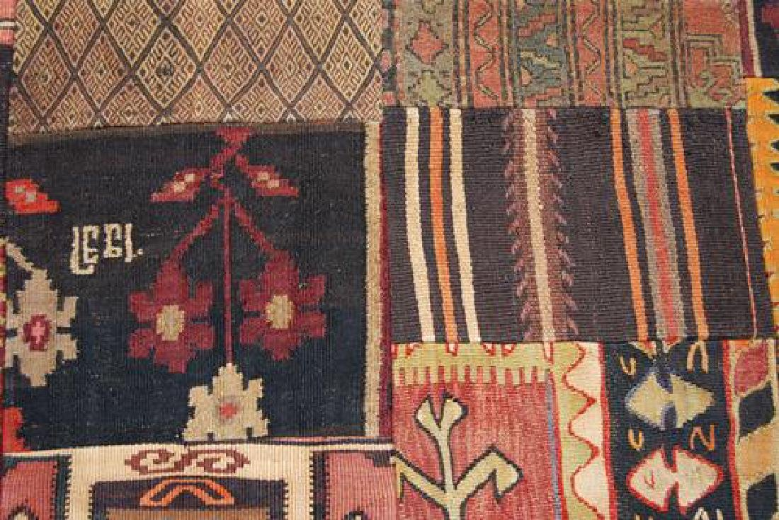 ABSOLUTELY SPECTACULAR HANDMADE TURKISH PATCHWORK KILIM - 3