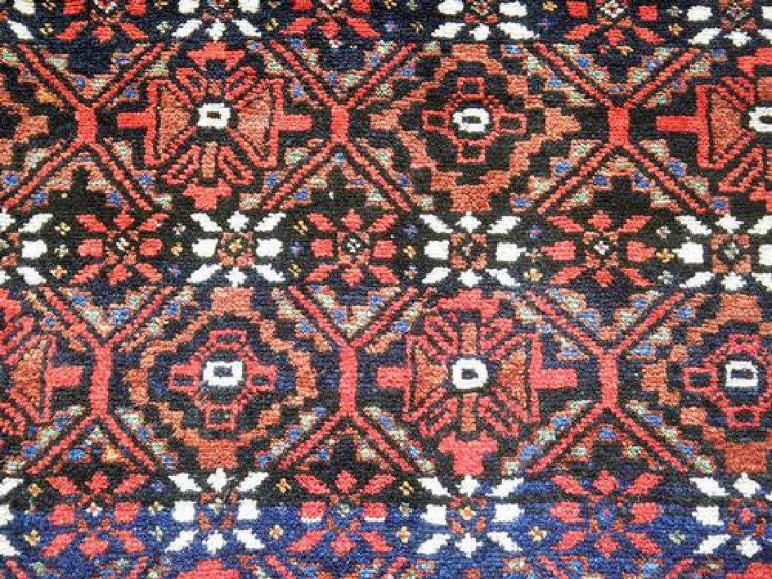 Hand Knotted Persian Kurdish Rug 3.11x7.0 - 3