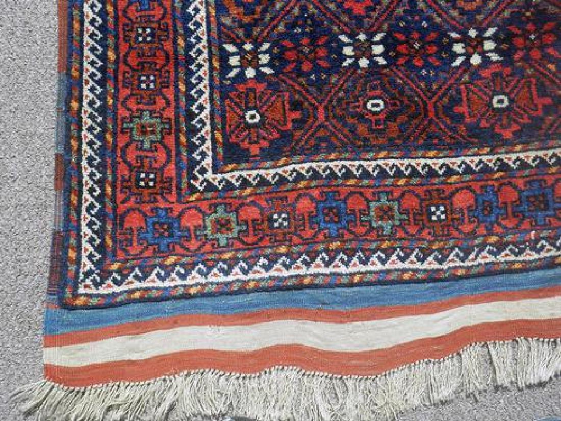 Hand Knotted Persian Kurdish Rug 3.11x7.0 - 4