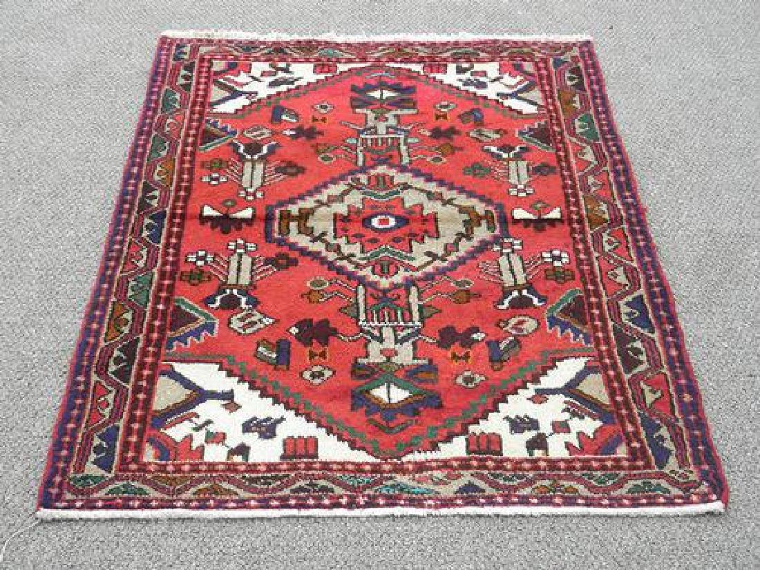 Beautiful Handmade Persian Hamadan 4.4x3.4