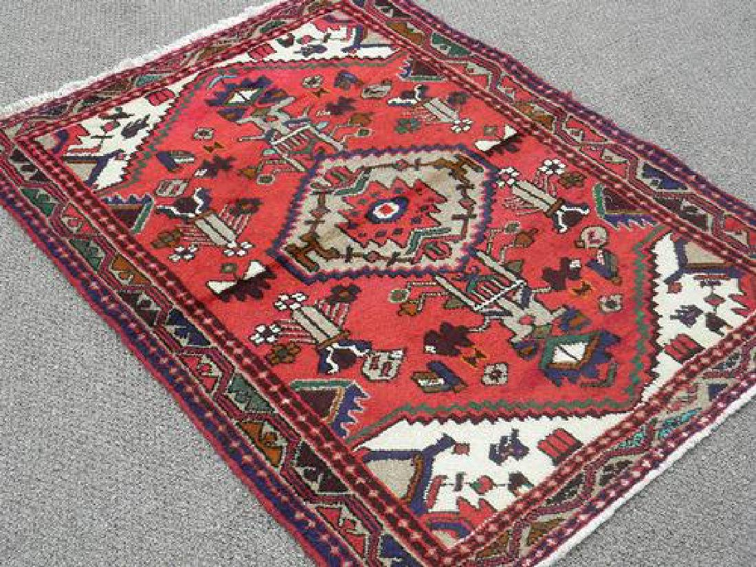 Beautiful Handmade Persian Hamadan 4.4x3.4 - 2