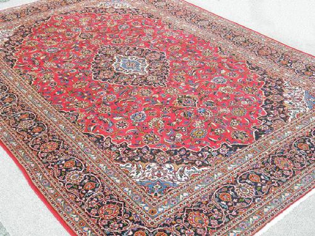 Lovely All Natural Hand woven Persian Kashan Rug - 2