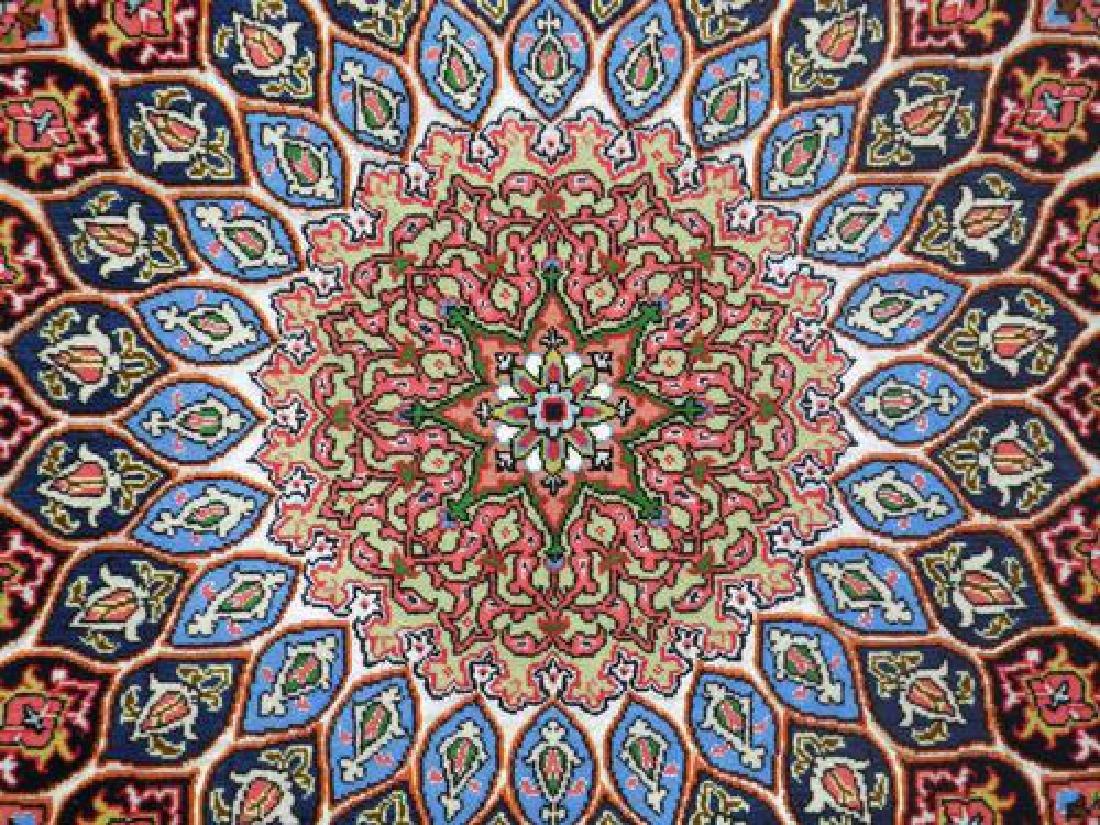 Lustrous Fine Quality Persian Tabriz 5.1x7 - 4