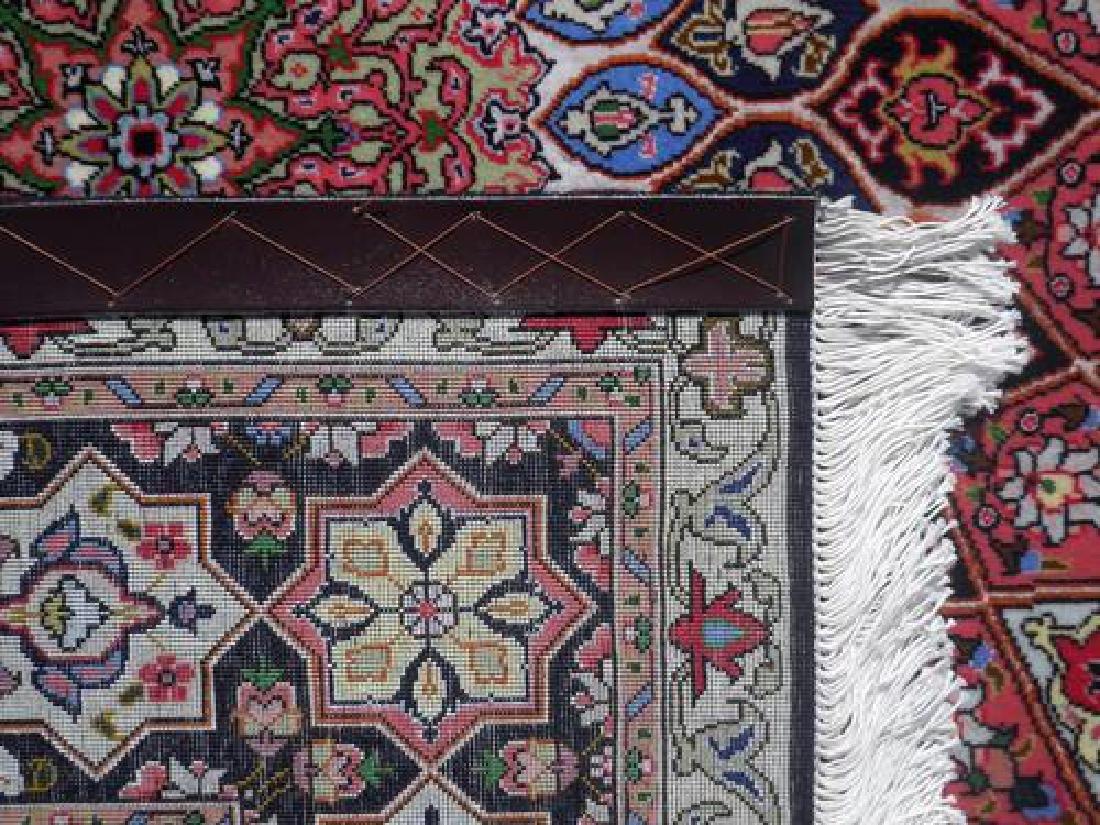 Lustrous Fine Quality Persian Tabriz 5.1x7 - 5