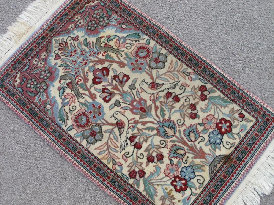 Admirable Handmade Floral Persian Qum Design Rug - 2