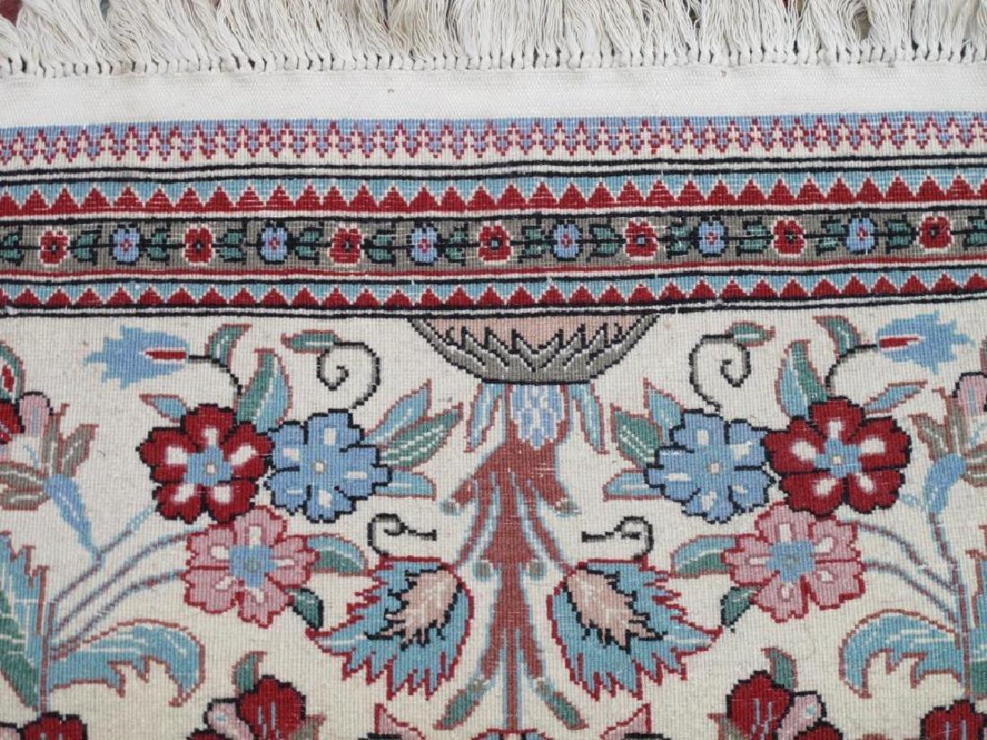Admirable Handmade Floral Persian Qum Design Rug - 4