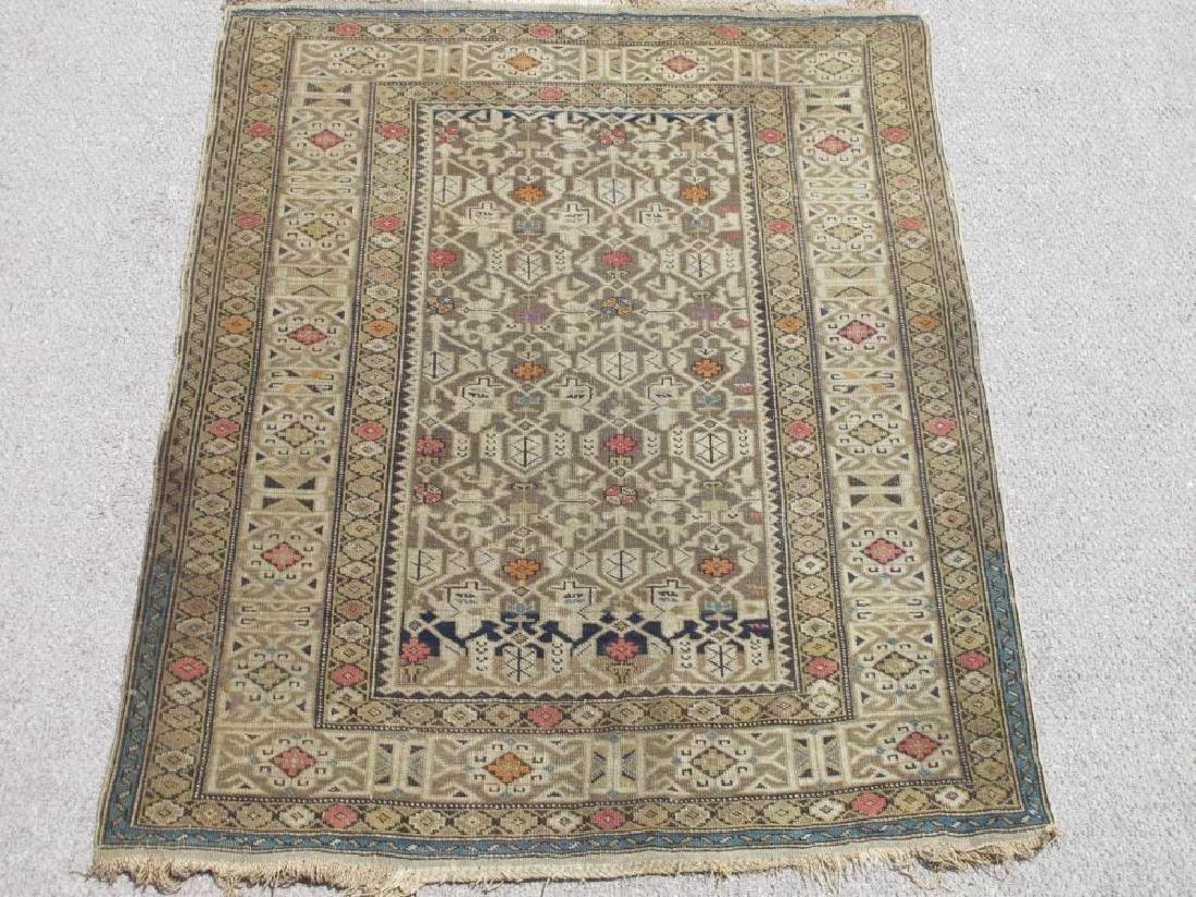 Charming Handmade Antique Wool on Wool Shirvan 4x5.1