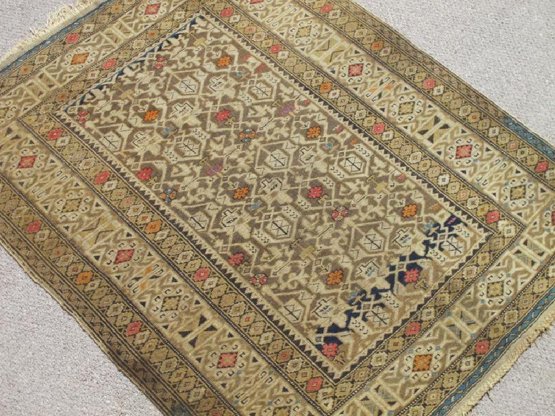 Charming Handmade Antique Wool on Wool Shirvan 4x5.1 - 2