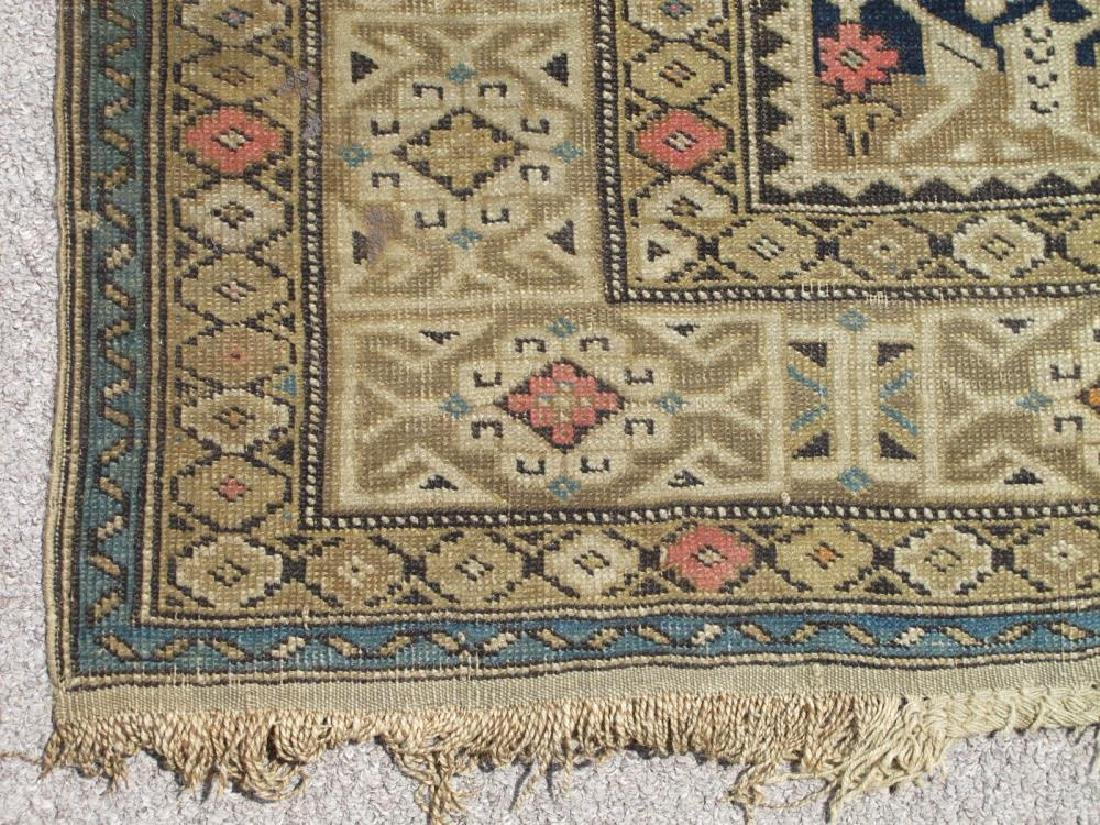 Charming Handmade Antique Wool on Wool Shirvan 4x5.1 - 3