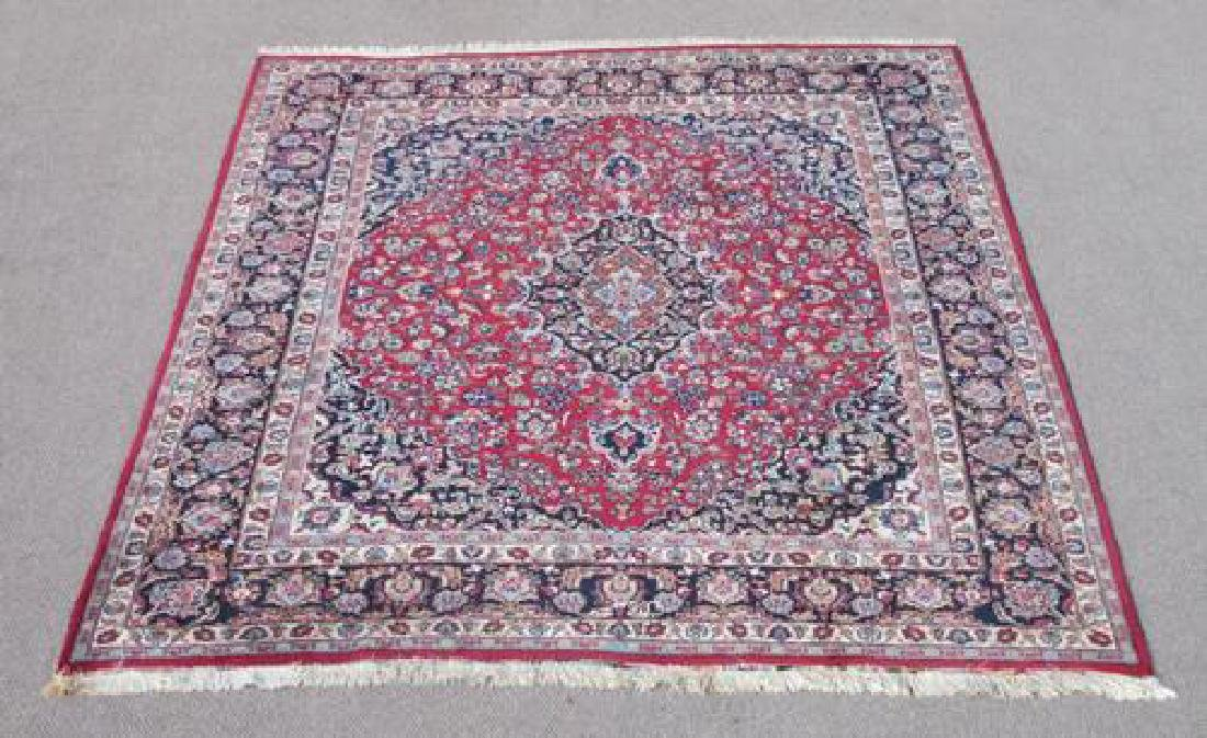 Absolutely Mesmerizing Semi Antique Persian Mashhad Rug