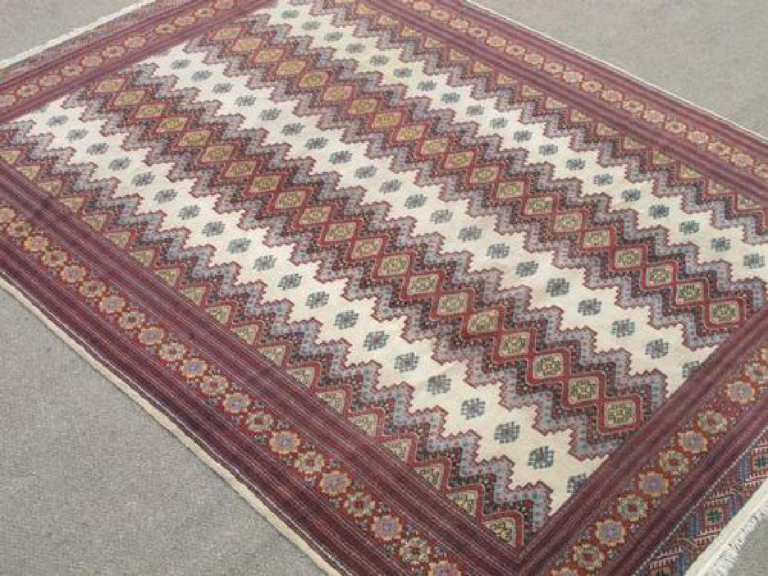 Intricate Knotted Vintage Yomut Turkman Tribal 10x6.7 - 2