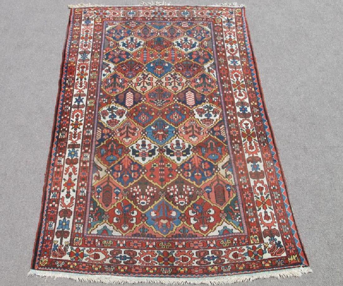 Finely Done Semi Antique Allover Persian Bakhtiari