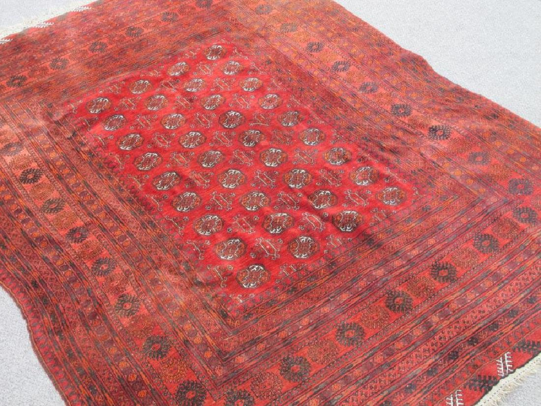 Hand Knotted Semi Antique Wool on Wool Persian Turkmen - 2